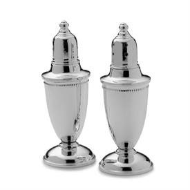 -233 BEADED SALT & PEPPER SHAKER SET IN STERLING SILVER