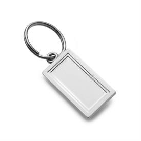 -220 ENGRAVABLE KEYRING IN STERLING SILVER.