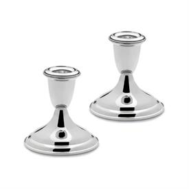 "-,43 3.4"" PLAIN CANDLESTICK PAIR"