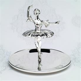 "-,SILVERPLATED BALLERINA RING HOLDER. 3.8"" TALL"