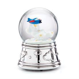 -MUSICAL WATERGLOBE. PLAYS 'BEAUTIFUL DREAMER'. SILVERPLATE