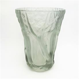 ",LOETZ GRAPE VASE. GREEN IRIDESCENCE. 6.75"" TALL. SLIGHT CHIP ON 1 FOOT."