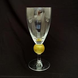 ",PAIR OF UNION STREET ART GLASS MANHATTAN GOLD ICED TEA GLASS 7.5""T X 3 1/8""W SIGNED AND DATED"