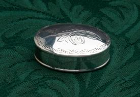 OVAL PILL BOX .46 TROY OUNCES STERLING SILVER 1.6""