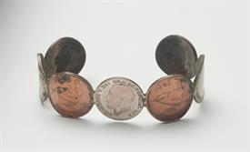 COIN BRACLET ENGLISH FARTHINGS PETIT SIZE - SO UGLY IT'S PRETTY