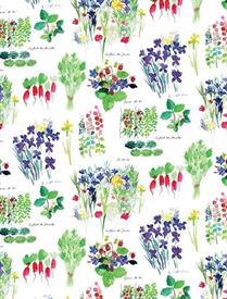 -,MILLE FRAISIERS PRINTEMPS KITCHEN TOWEL. 22X30""
