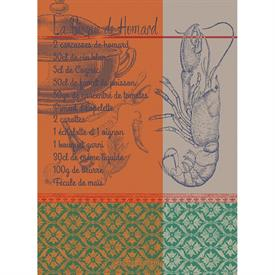 -,BISQUE DE HOMARD ROUILLE KITCHEN TOWEL. 22X30""