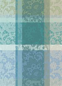 -,MILLE DENTELLES TURQUOISE KITCHEN TOWEL. 22X30""