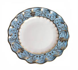 -DUCK EGG BLUE FLUTED DESSERT PLATE