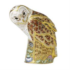 "-LIMITED EDITION 'PRESTIGE BARN OWL' PAPERWEIGHT. 9.25"" TALL"