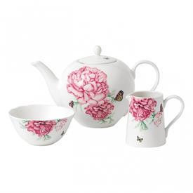 -3-PIECE EVERYDAY TEA SET. DISHWASHER SAFE. INCLUDES TEAPOT, SUGAR BOWL & CREAMER.