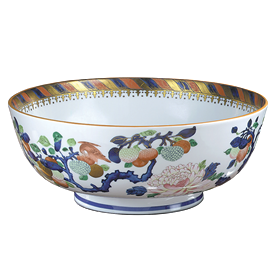 "-BASSET HALL PUNCH BOWL. 14.5"" WIDE, 6"" TALL"