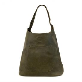 "-,OLIVE MOLLY SLOUCHY HOBO BAG. 14"" WIDE, 20"" TALL"