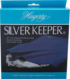"-24""X30"" ZIPPERED BAG MADE BY HAGERTY OF TARNISH PREVENTATIVE CLOTH MADE IN USA"