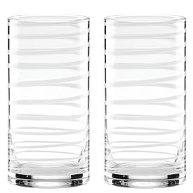 -,WHITE 2-PIECE HIGHBALL GLASS SET. 16 OZ. CAPACITY. BREAK RESISTANT. BREAKAGE REPLACEMENT AVAILABLE.