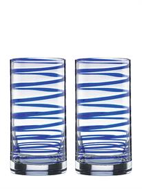 _,BLUE 2 PIECE HIGHBALL GLASS SET