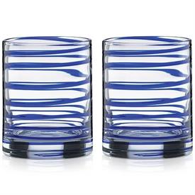 -BLUE 2-PIECE DOUBLE OLD FASHIONED GLASS SET. 10 OZ. CAPACITY. BREAK RESISTANT. BREAKAGE REPLACEMENT AVAILABLE.