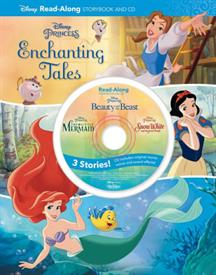 _'DISNEY PRINCESS ENCHANTING TALES' READ-ALONG STORYBOOK & CD. HARDCOVER BOOK & AUDIO CD FEATURING VOICES FROM THE ORIGINAL. 128 PAGES
