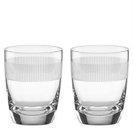 -,SET OF 2 DOUBLE OLD FASHIONED GLASSES