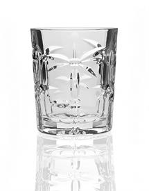,_SET OF 4 PALM DOUBLE OLD FASHIONED GLASSES. SOUTH BEACH COLLECTION BY SHANNON CRYSTAL. MSRP $35.00