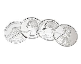 ,_SET OF 4 U.S. COIN SHAPED COASTERS. MSRP $49.99