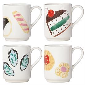 _,SET OF 4 MUGS, 'ONE SMART COOKIE' COLLECTION. STONEWARE. 12 OUNCE CAPACITY. MSRP $58.00