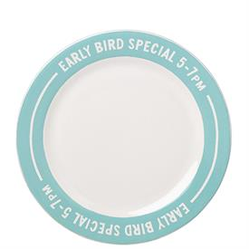 """-EARLY BIRD SPECIAL ACCENT PLATE, 'ORDER'S UP' COLLECTION. 9"""" WIDE. MSRP $13.00"""