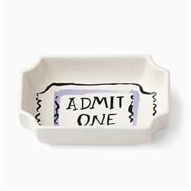 """_'ADMIT ONE' TICKET BOWL. 5"""" LONG, 3.5"""" WIDE"""
