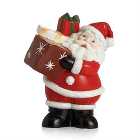 "-,'SANTA'S JOY' FIGURINE. 5.8"" TALL, 4.5"" WIDE, 3.2"" DEEP"