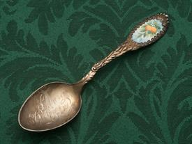 "ST. PETERSURG FLORIDA STERLING SOUVENIR SPOON 5.5"" LONG ENAMELED"