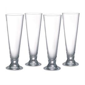 -SET OF 4 PILSNER GLASSES