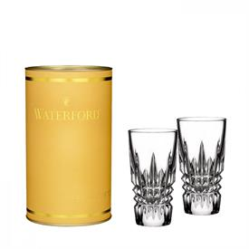 ,-LISMORE DIAMOND SHOT GLASS PAIR IN CANARY TUBE