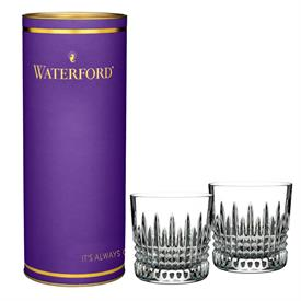 ,-LISMORE DIAMOND 9 OUNCE TUMBLER PAIR IN PURPLE TUBE