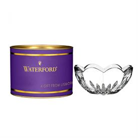 "-4"" LISMORE HEART BOWL IN PURPLE TUBE"