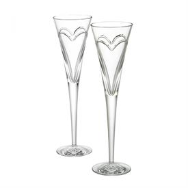 -WATERFORD WISHES 'LOVE & ROMANCE' TOASTING FLUTE PAIR