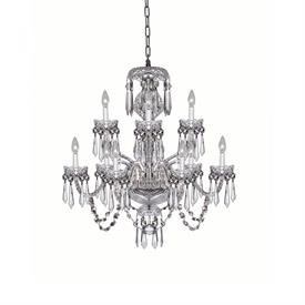 "-CRANMORE 9 ARM CHANDELIER. 30"" HIGH, 28"" WIDE"