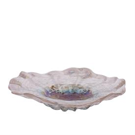 """-,DOTTED CENTER GLASS BOWL. 15.7"""" WIDE, 3.7"""" DEEP"""