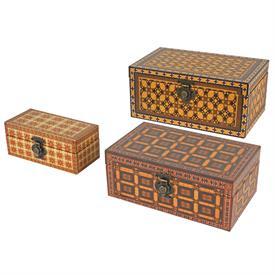 -,SET OF 3 NESTING WOOD STORAGE BOXES