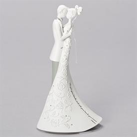 "-'EMBRACE' WEDDING CAKE TOPPER. 9"" TALL"