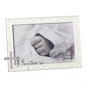 "-,4X6"" RHINESTONE BAPTISM FRAME"