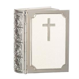 -,BIBLE SHAPED KEEPSAKE BOX