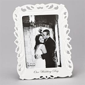 "-,5X7"" PIERCED WEDDING DAY FRAME"