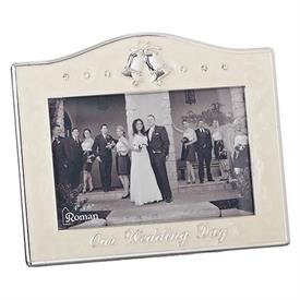 "-,4X6"" WEDDING BELLS FRAME IN IVORY"
