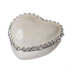 -,IVORY HEART KEEPSAKE BOX