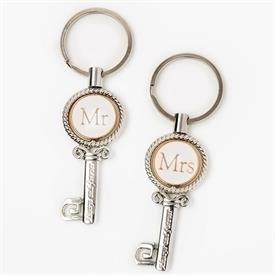 -,MR. & MRS. KEYCHAIN SET
