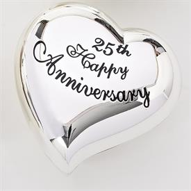 -,25TH ANNIVERSARY HEART KEEPSAKE BOX