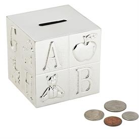 "-,ALPHABET BLOCK BANK. 3"" TALL"