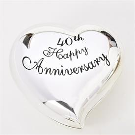 -,40TH ANNIVERSARY HEART KEEPSAKE BOX