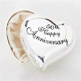 -,50TH ANNIVERSARY HEART KEEPSAKE BOX