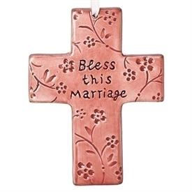 -'BLESS THIS MARRIAGE' HANGING CROSS